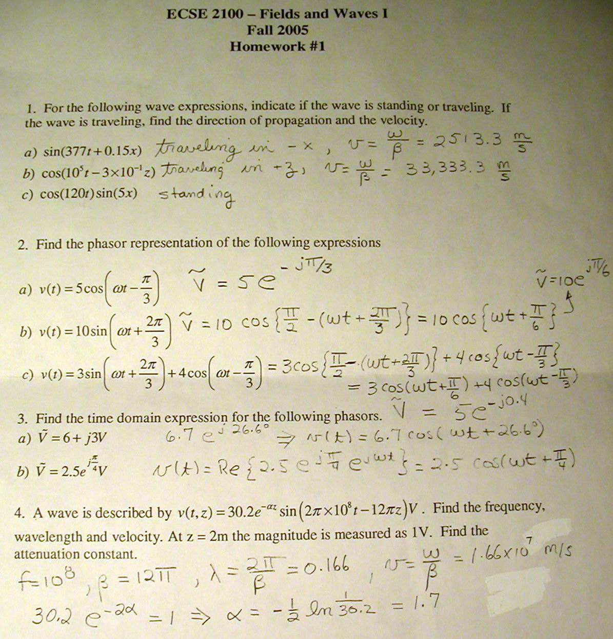 Hw1 10 Solutions